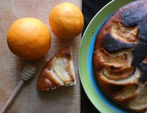 CUCINA: Torta all'acqua arancia e mele